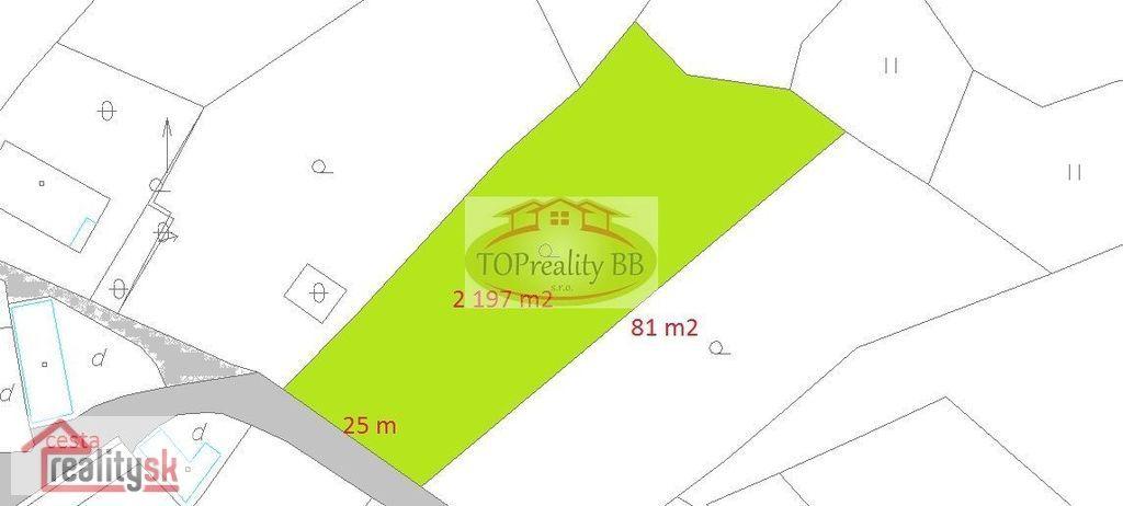 Pozemok pre rodinné domy 2197m2