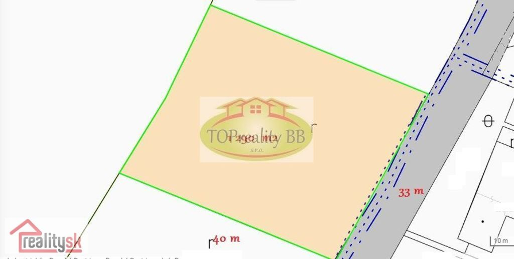 Pozemok pre rodinné domy 1290m2