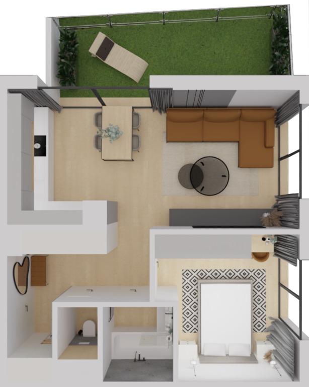 2-izb. byt 67m2, novostavba