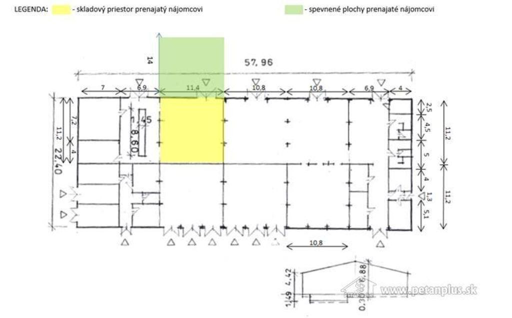 Skladový objekt 127m2, čiastočná rekonštrukcia